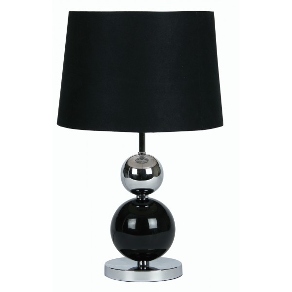 corby oaks black and silver touch lamp. Black Bedroom Furniture Sets. Home Design Ideas