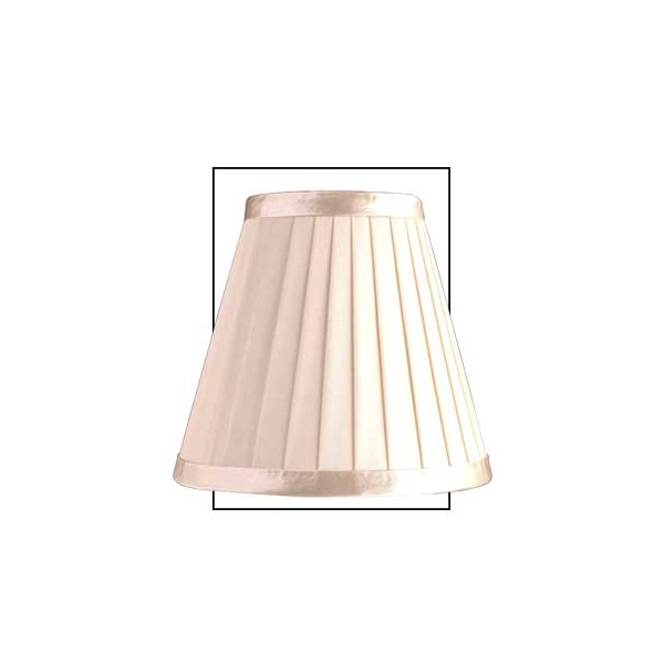 lamp shades candle shades cream 6 inch pleated round candle shade. Black Bedroom Furniture Sets. Home Design Ideas