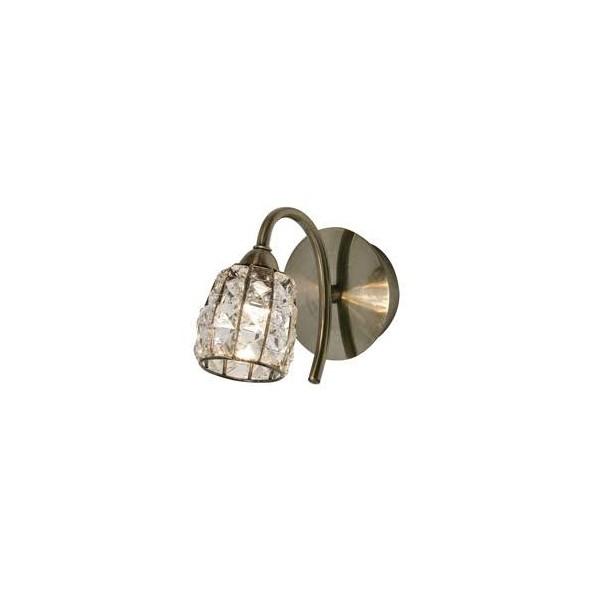 Oaks Lighting 5157-1AB Naira wall light in antique brass  sc 1 th 225 & Oaks Lighting 5157 1AB Naira wall light in antique brass azcodes.com