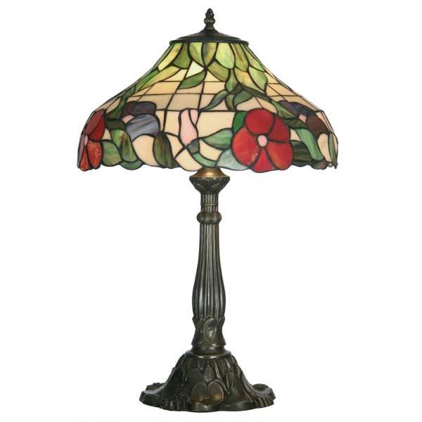 tiffany tiffany table lamps peonies tiffany style table lamp large. Black Bedroom Furniture Sets. Home Design Ideas