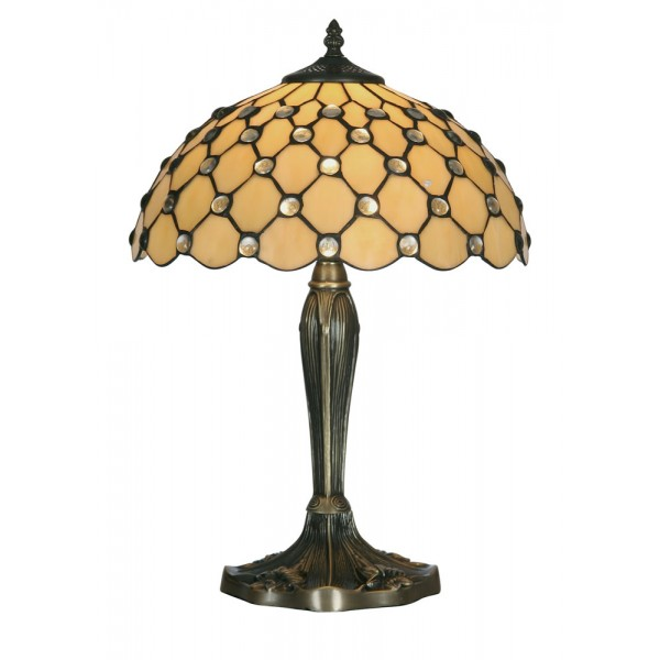 home tiffany tiffany table lamps jewel tiffany style table lamp. Black Bedroom Furniture Sets. Home Design Ideas